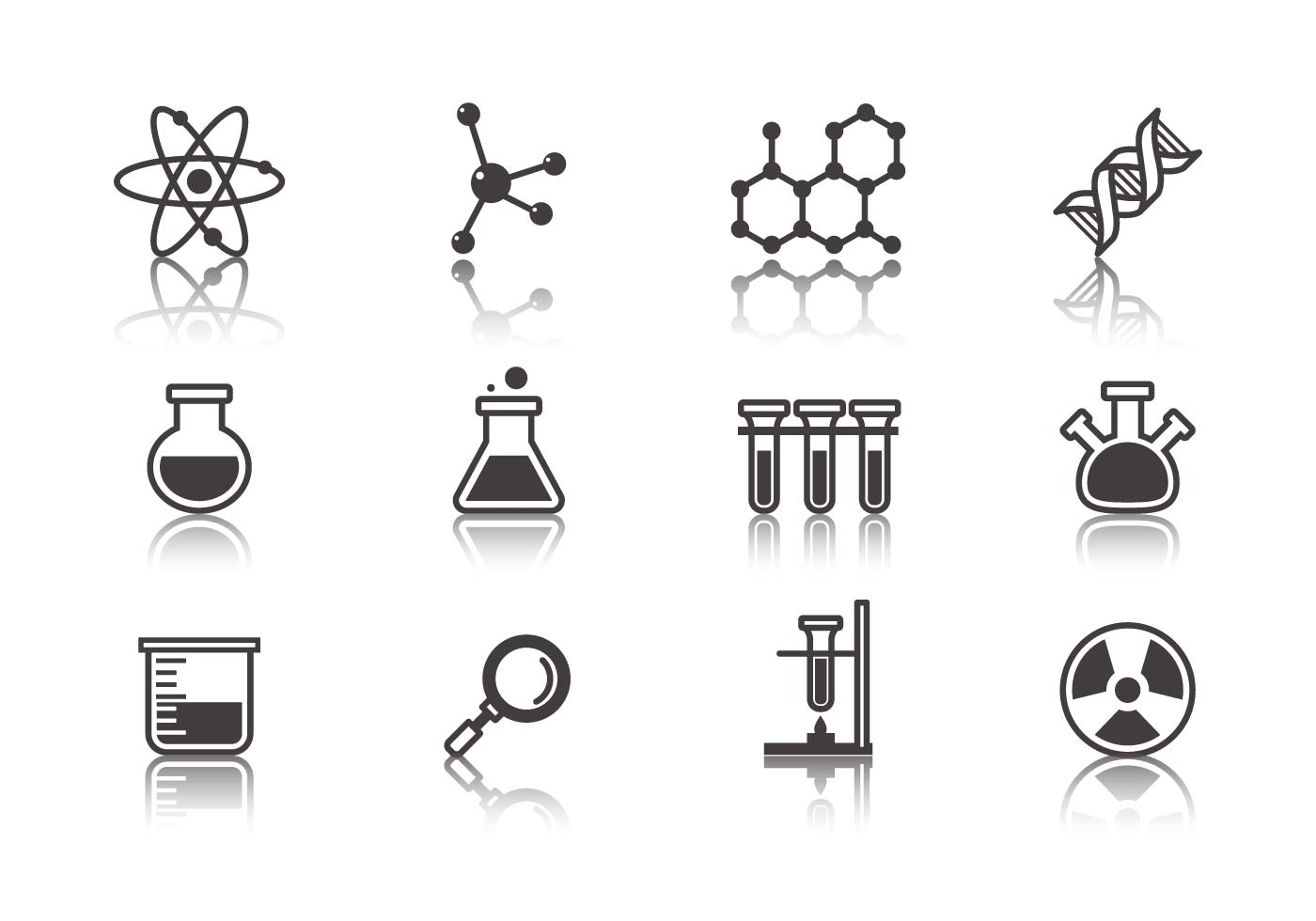 Science And Laboratory Icons Vector