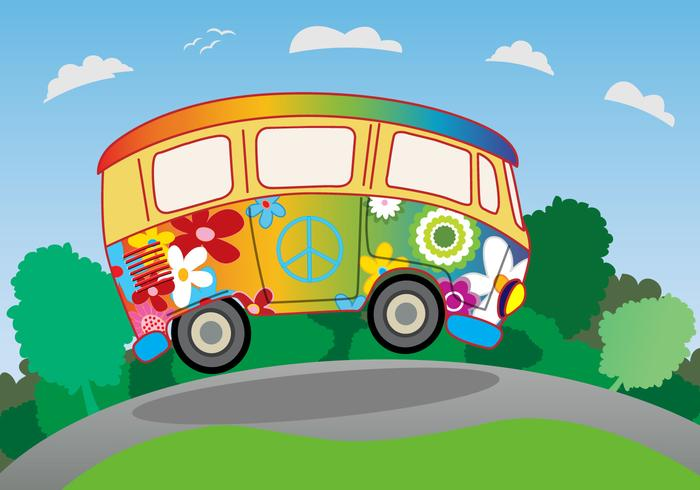 Hippie Bus Summer vacation