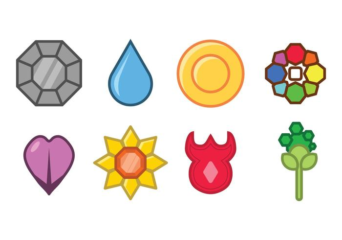 Pokemon badge set