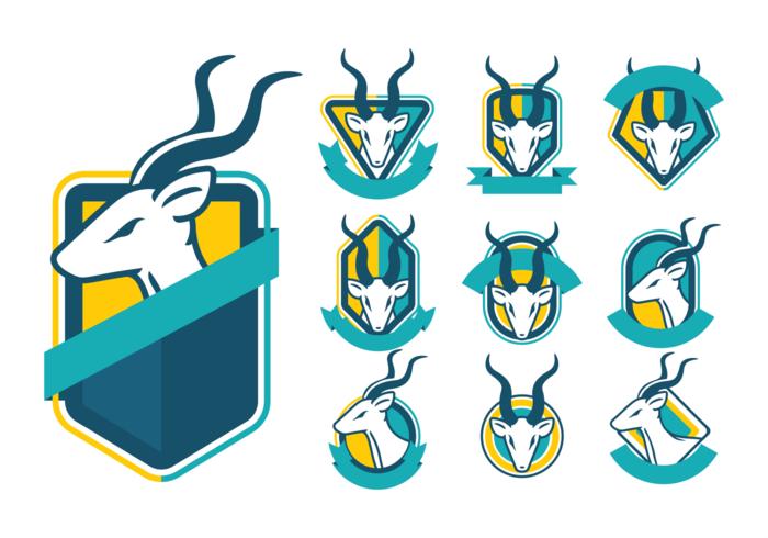 Greater Kudu Badges Vector