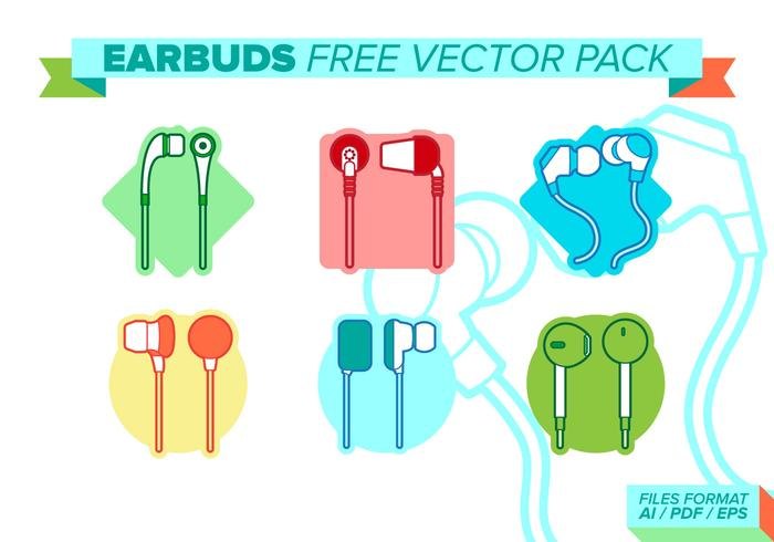 Ear Buds Free Vector Pack