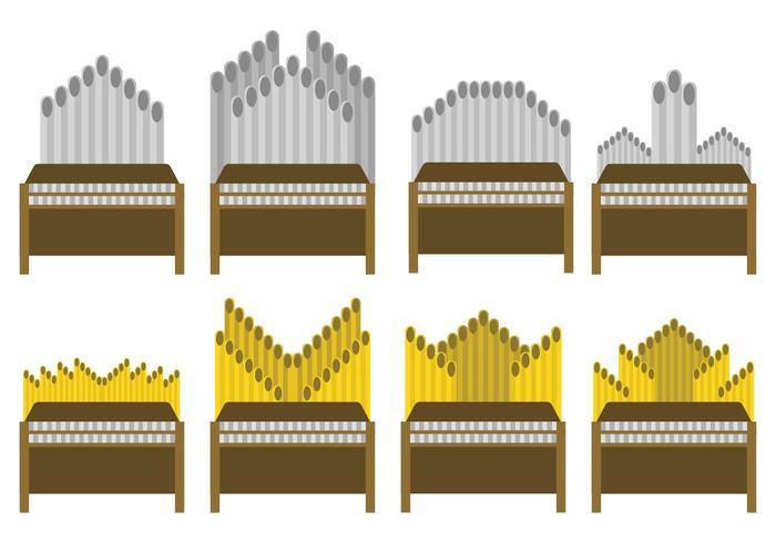 Free Pipe Orgel Vektor Set