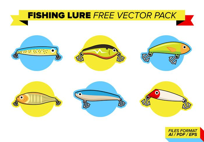 Fishing Lure Pack Vector Libre
