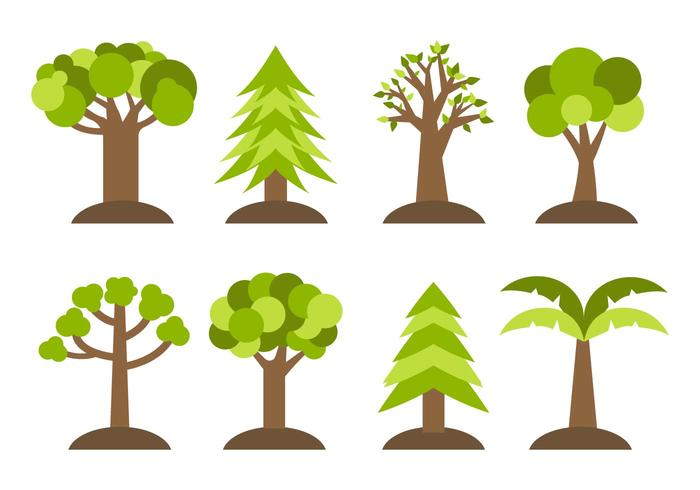 Free Different Trees Icons Vector