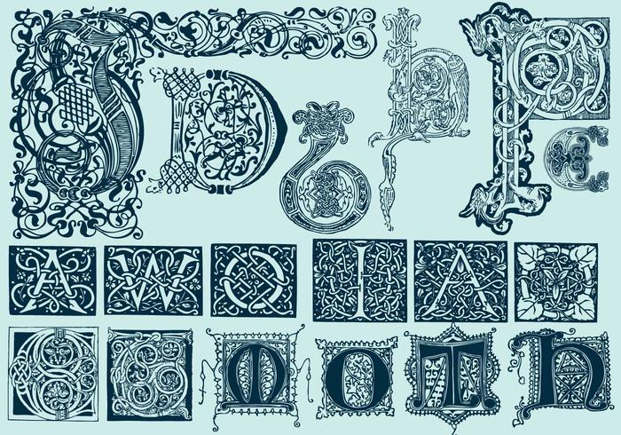 Keltiska huvudbokstäver