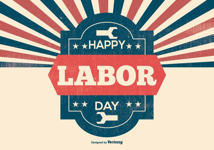 Retro Labor Day Illustration
