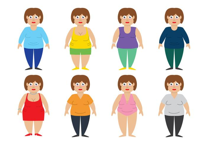 Fat Women Vector