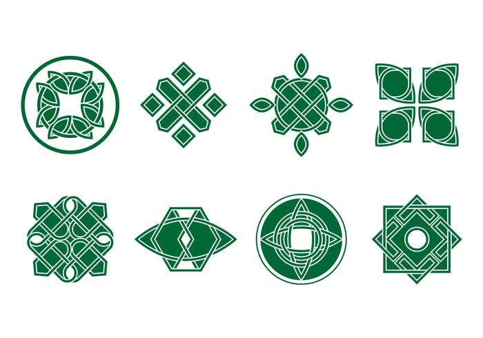 Libres Verde celta Ornament Vector
