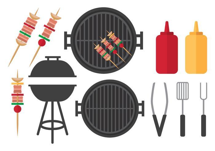 Ensemble de barbecue plat