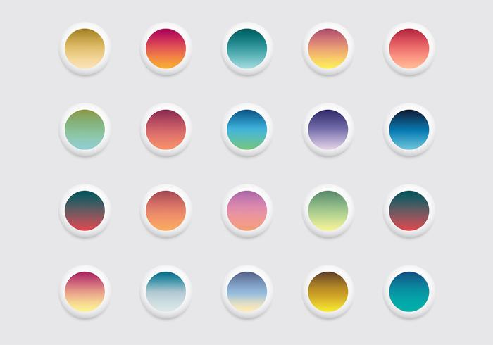 Free Rounded Linear Gradient Icons Vector