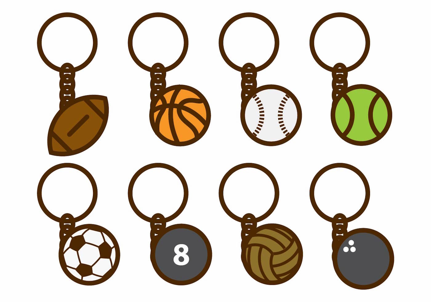 Monogram Free Circle Keychain Svg – 172+ SVG PNG EPS DXF in Zip File