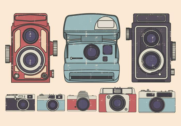 Vintage Kamera Illustration gesetzt