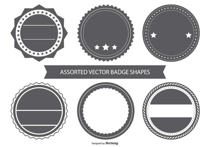 Emblemas em branco do emblema do vintage vetor