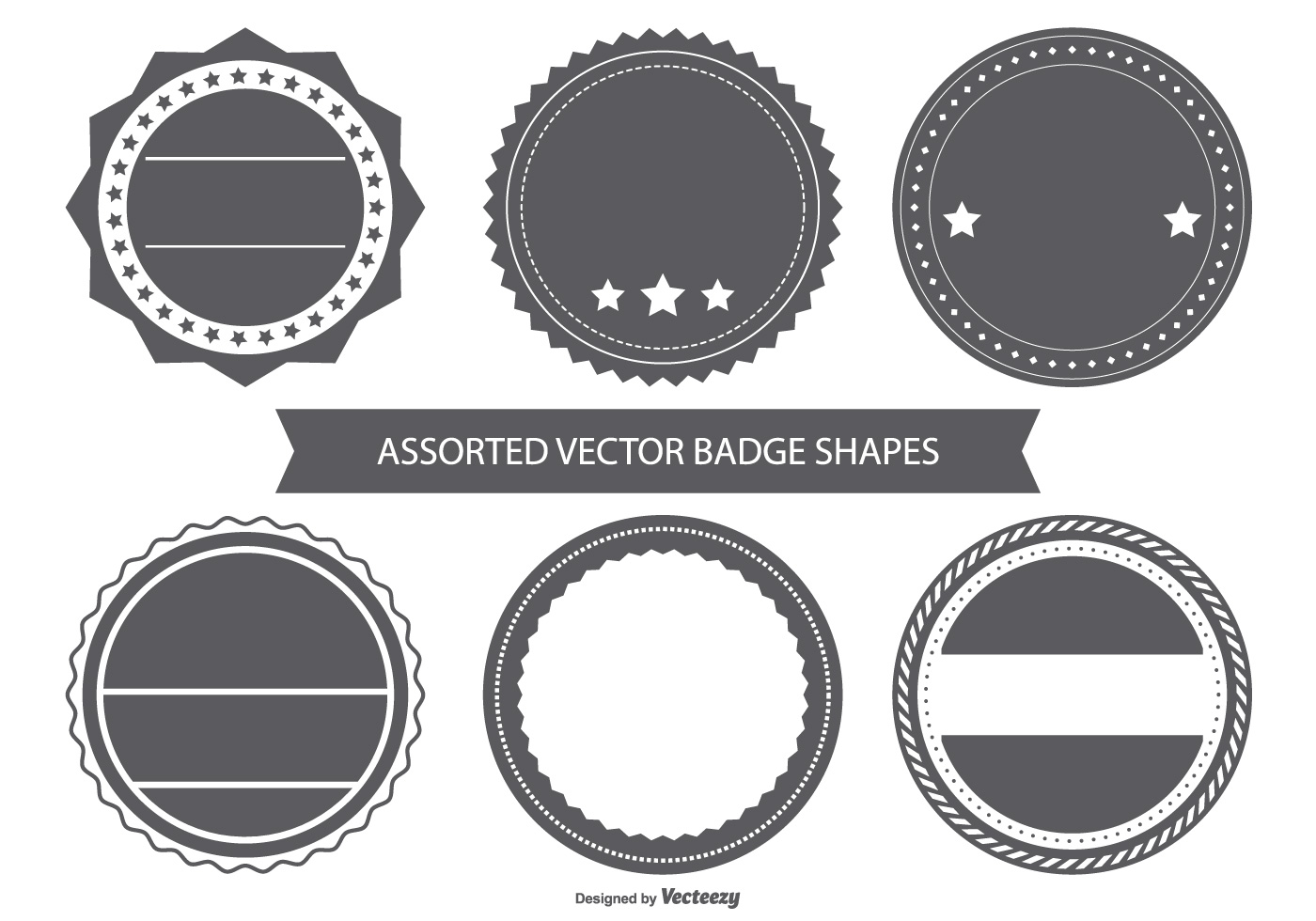 blank vintage badge shapes download free vector art stock graphics images. Black Bedroom Furniture Sets. Home Design Ideas