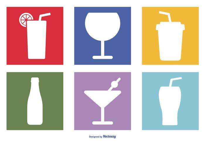 Surtido, bebidas, icono, Conjunto