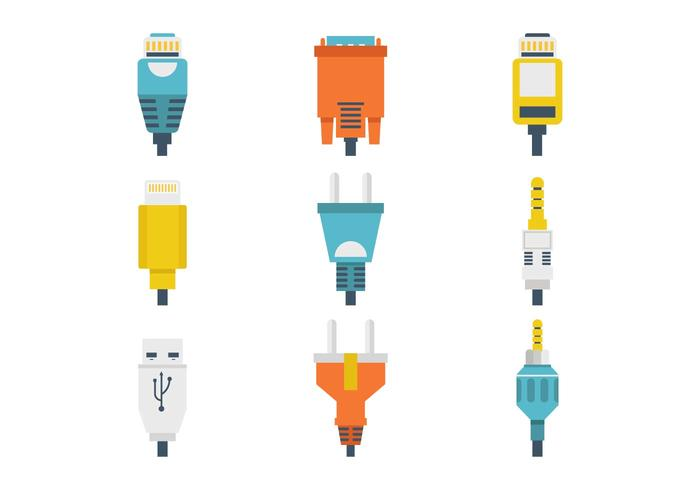Free Different Connection Plug Vector