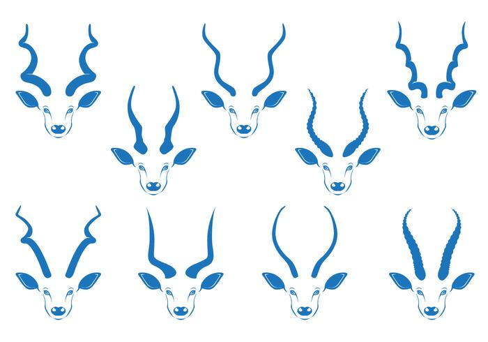 Kudu horn vector stock