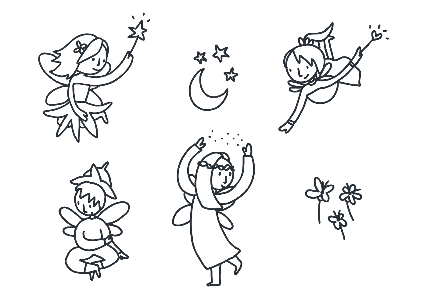 flower pixies coloring pages - photo#7