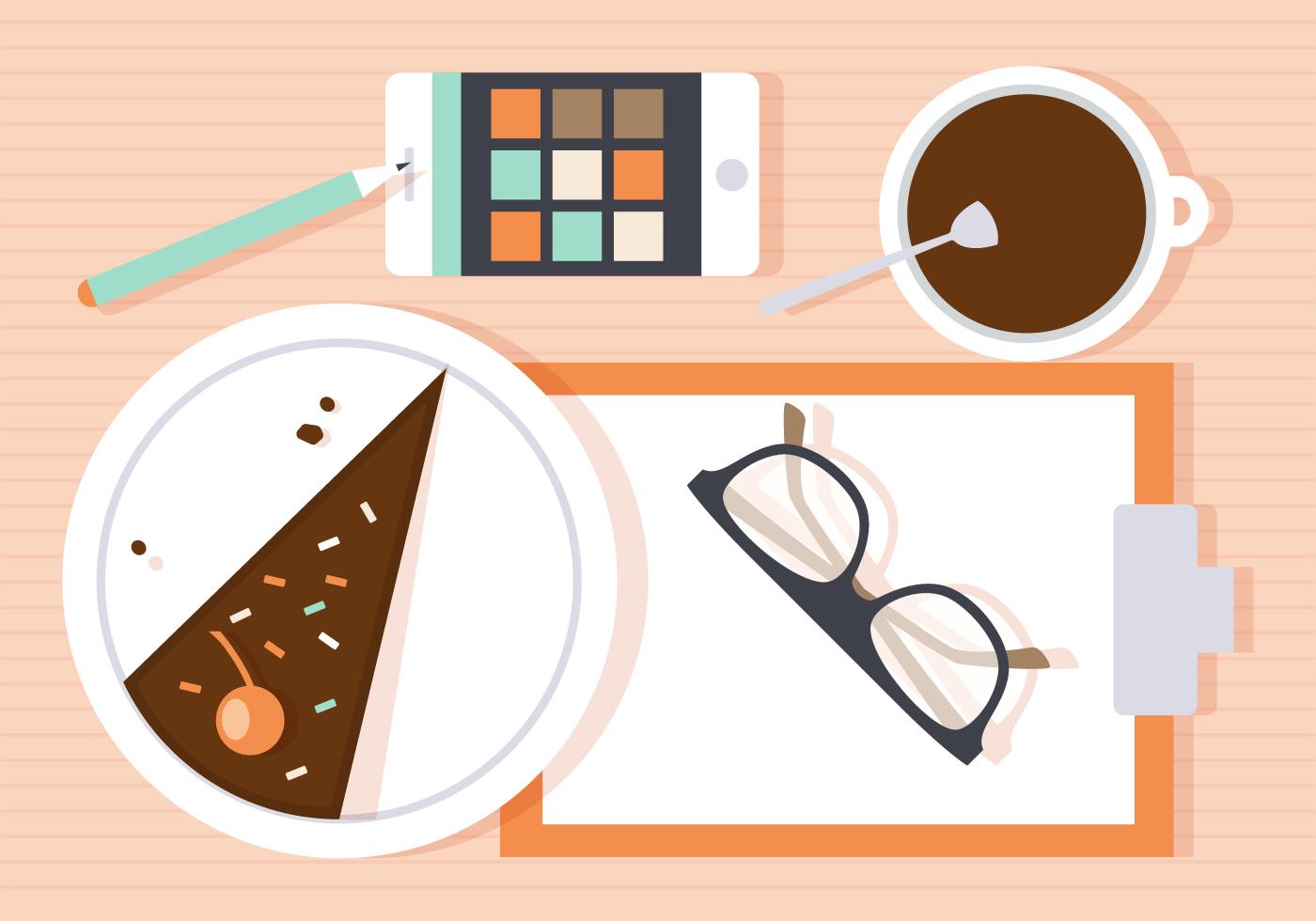 Free Morning Work Vector Illustration Download Free