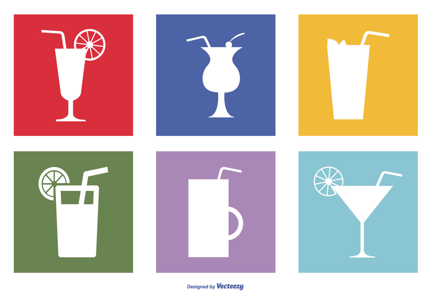 119362 Assorted Drinks Icon Set