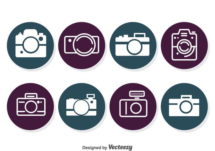 Iconos del círculo de la cámara