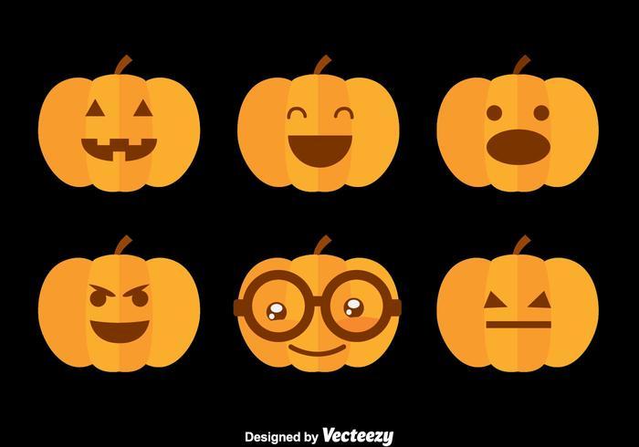 Hallowen Pumpkin Flat Vector