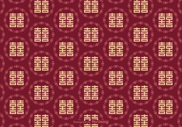 Free Double Happiness Seamless Pattern