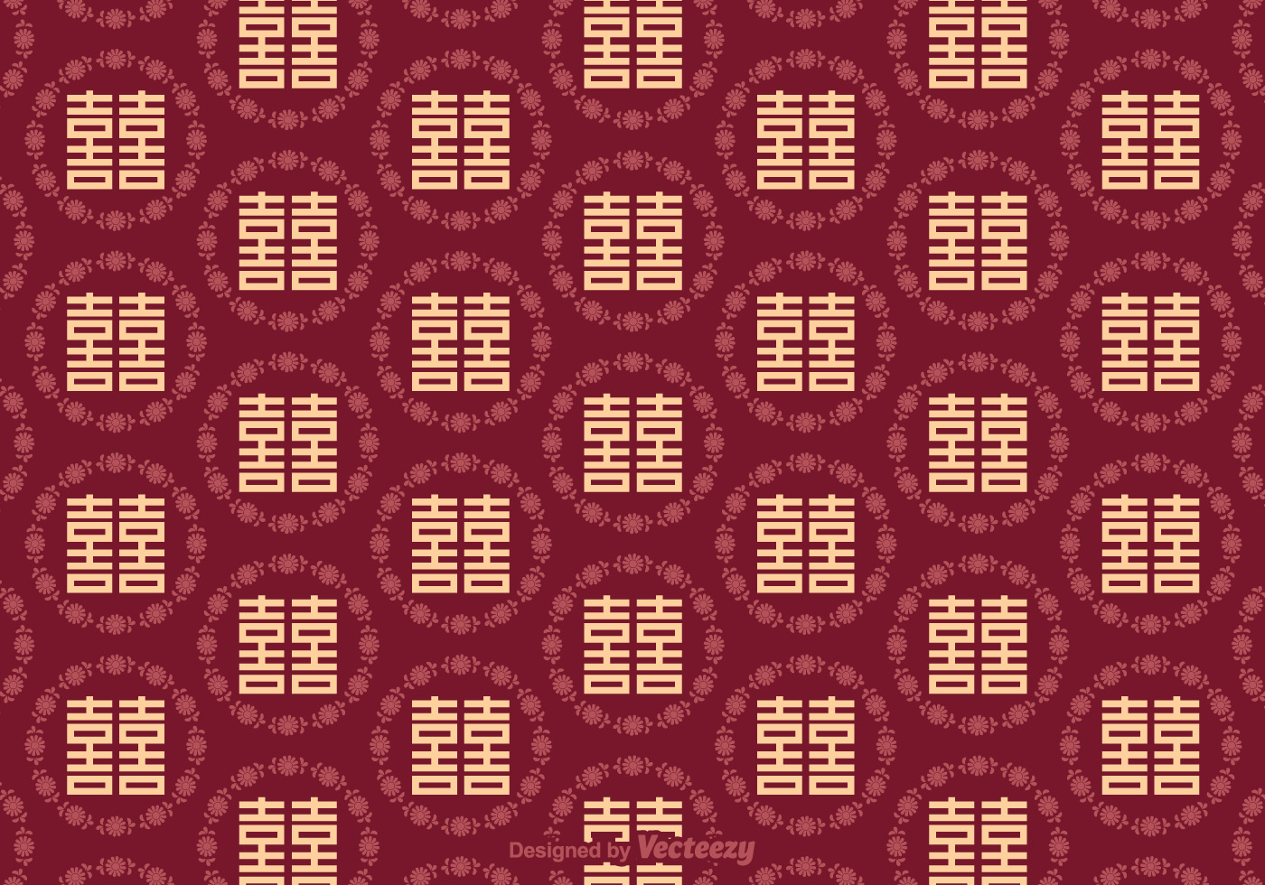 Free Double Happiness Seamless Pattern Download Free
