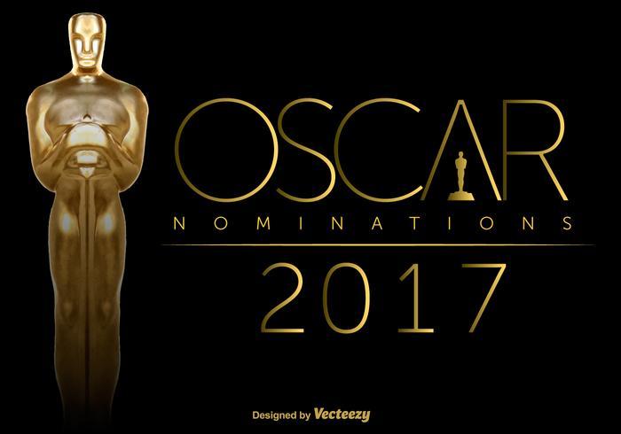 Vector Oscar Statuette On Black Background