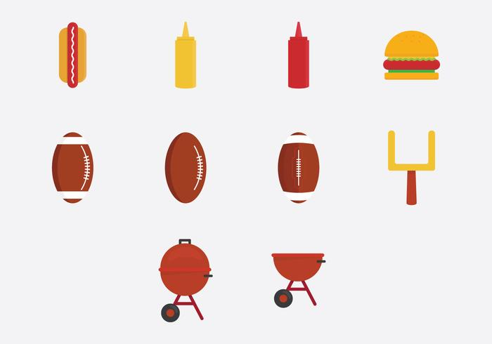 Tailgate Party Icon Set