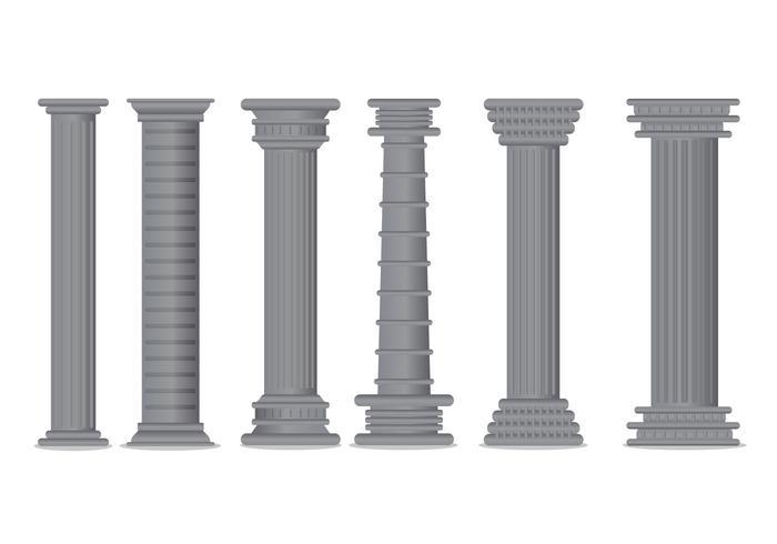 Vecteur de pilier romain