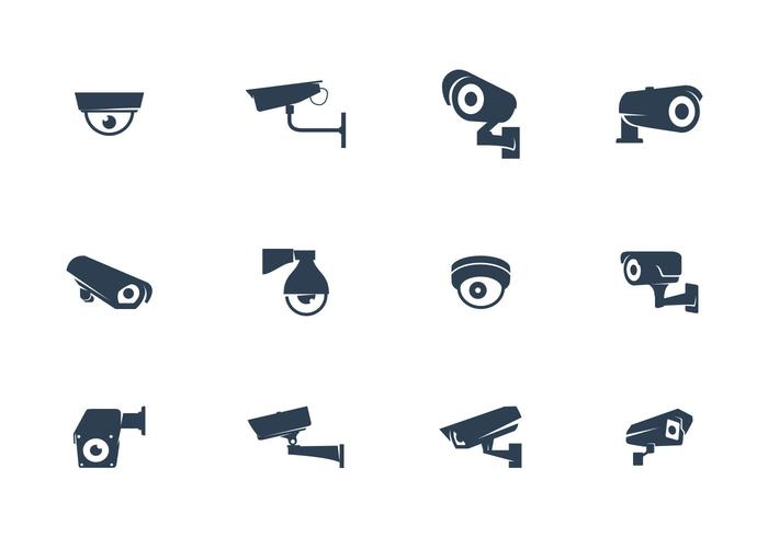 Vettore delle macchine fotografiche del CCTV
