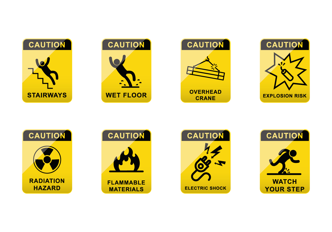 Free Caution Sign Vector Download Free Vector Art Stock