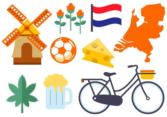 Vecteur libre des icônes des Pays-Bas