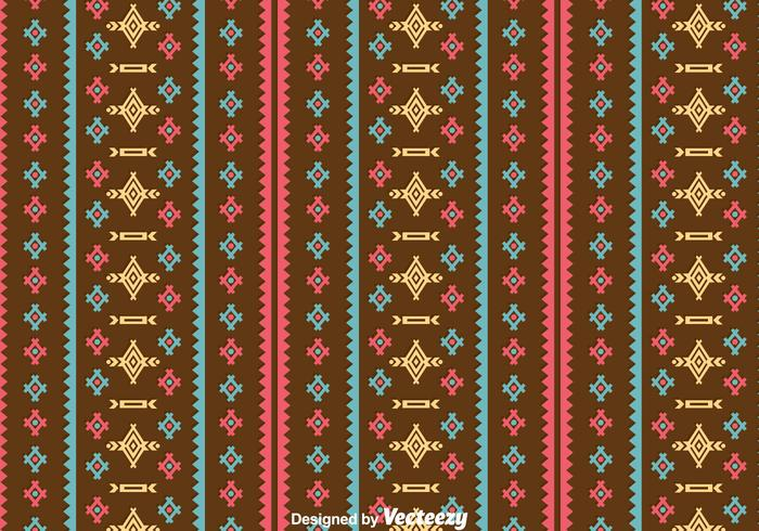 Ethnic Seamless Brown Background