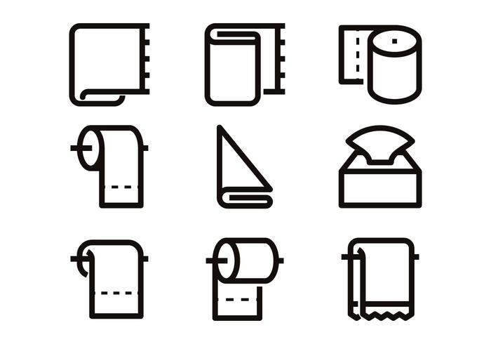 Línea De Papel Higiénico Icono Vectores