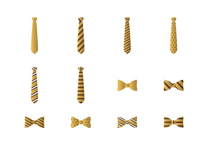 Cravate et cravate d'icône de vecteur