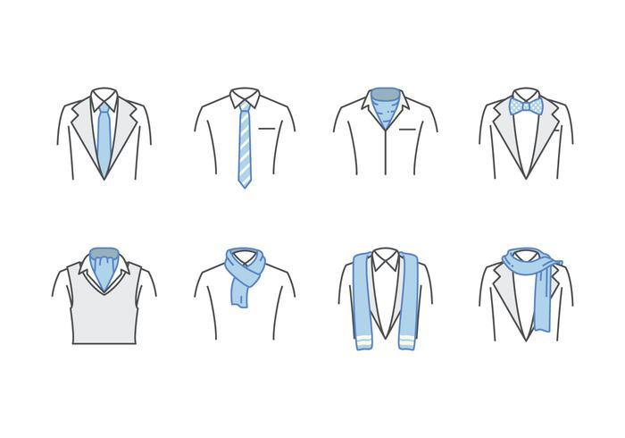 Free Neck Tie and Scarf Vector