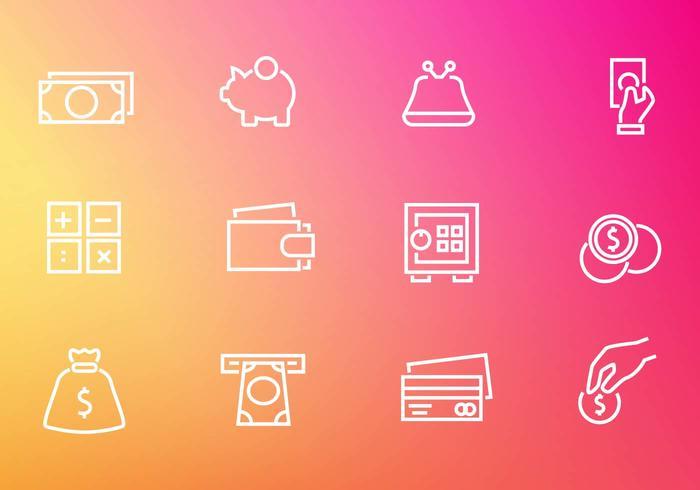 Iconos libres del dinero de la finanzas vectoriales