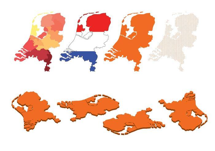 Netherland Map Set vector
