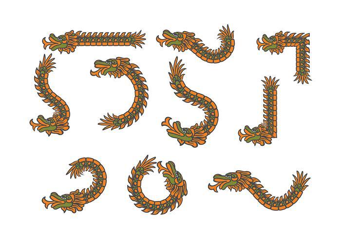 Decorative Quetzalcoatl Vectors