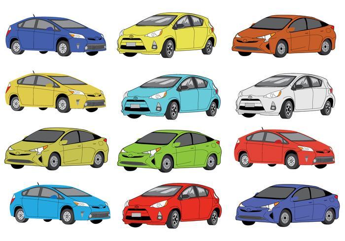 Iconos de color Prius gratis
