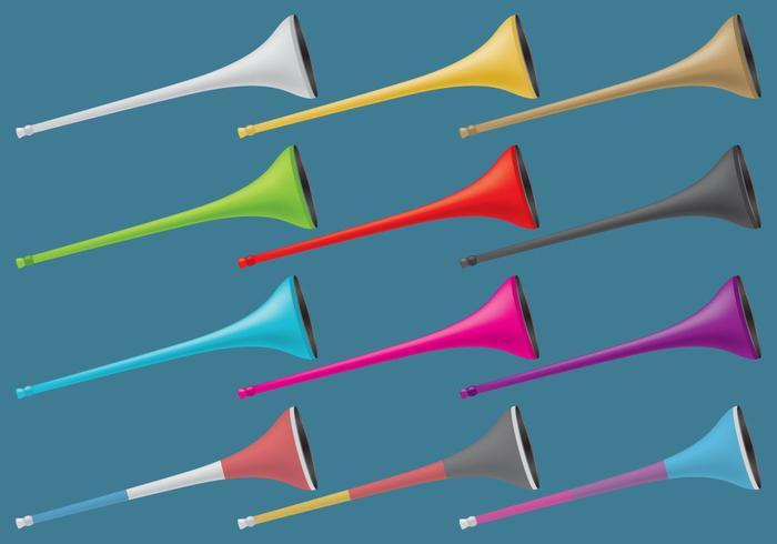 Färgglada Vuvuzelas