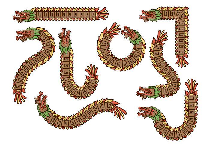 Mexicano Quetzalcoatl Vectores