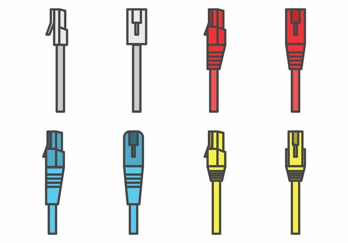 Ensemble de connecteur plat RJ45