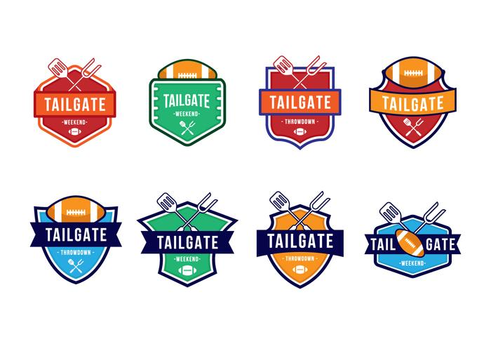 Free American Football Tailgate Party Badges
