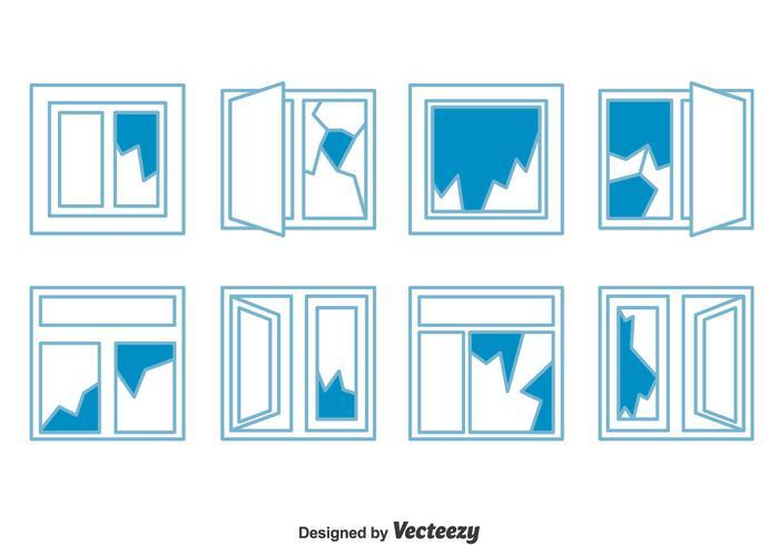 Broken Window Collection Vektor