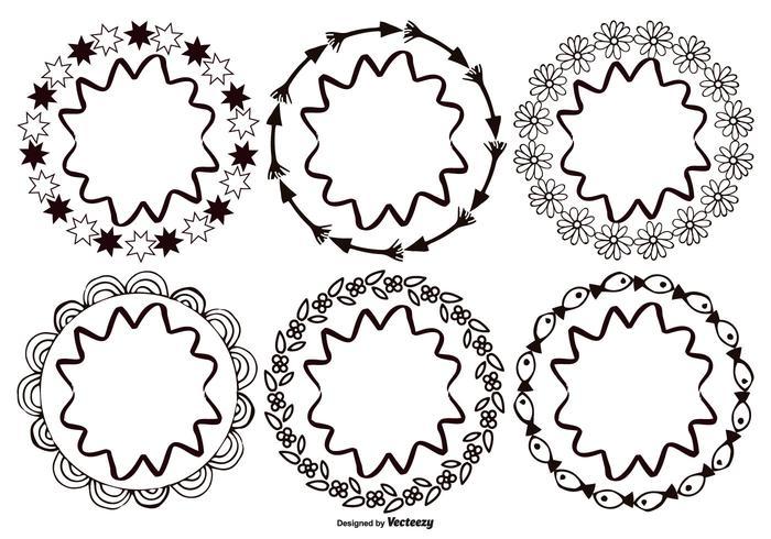 Molduras de estilo desenhadas à mão