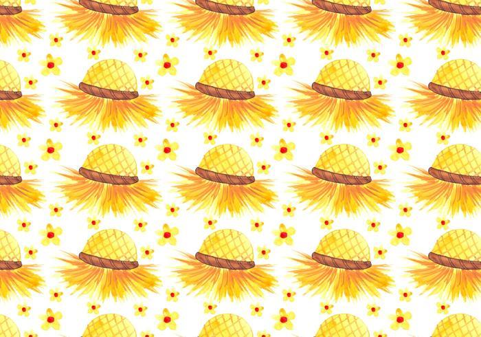 Vector de fondo libre de Junina Sombrero