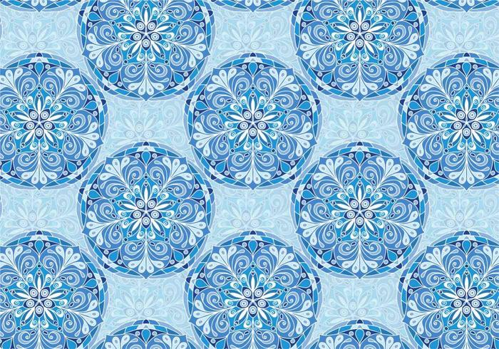 Blue Vector Colorful Mandala Pattern